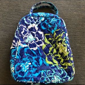 Vera Bradley quilted LUNCH BUNCH Bag FLOWERS EUC